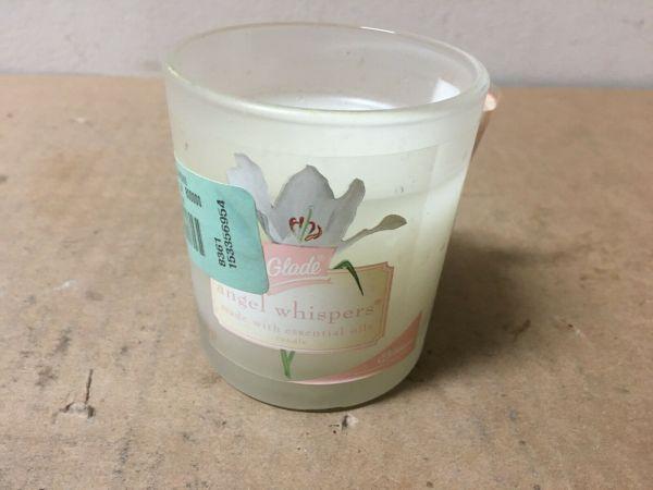 Glade Angel Whispers Candles Frosted Glass Infused With Essential Oils Htf