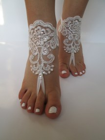 Beach Wedding Barefoot Sandals Bride