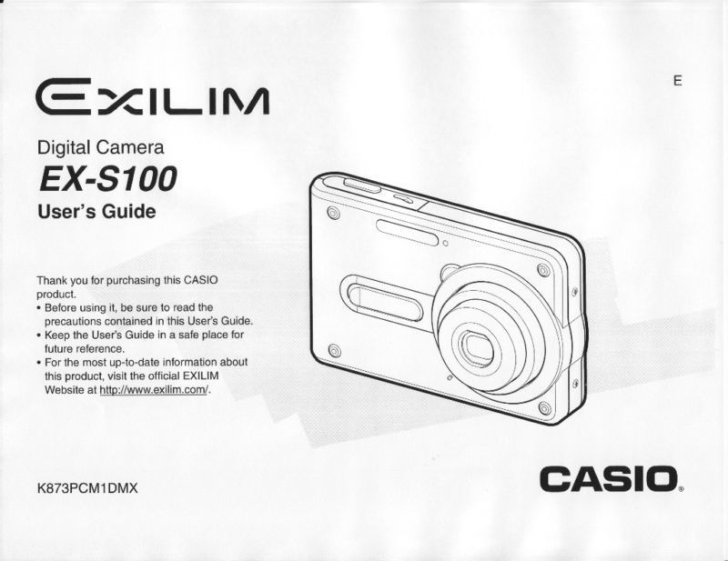 NEW Casio Exilim EX-S100 Camera User Manual Multi-Language
