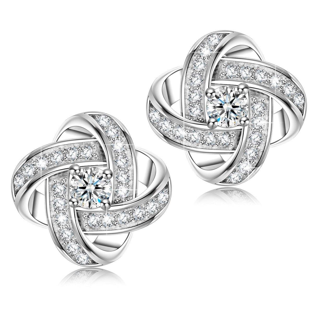 NINASUN Hypoallergenic 925 Sterling Silver 5A CZ Earrings