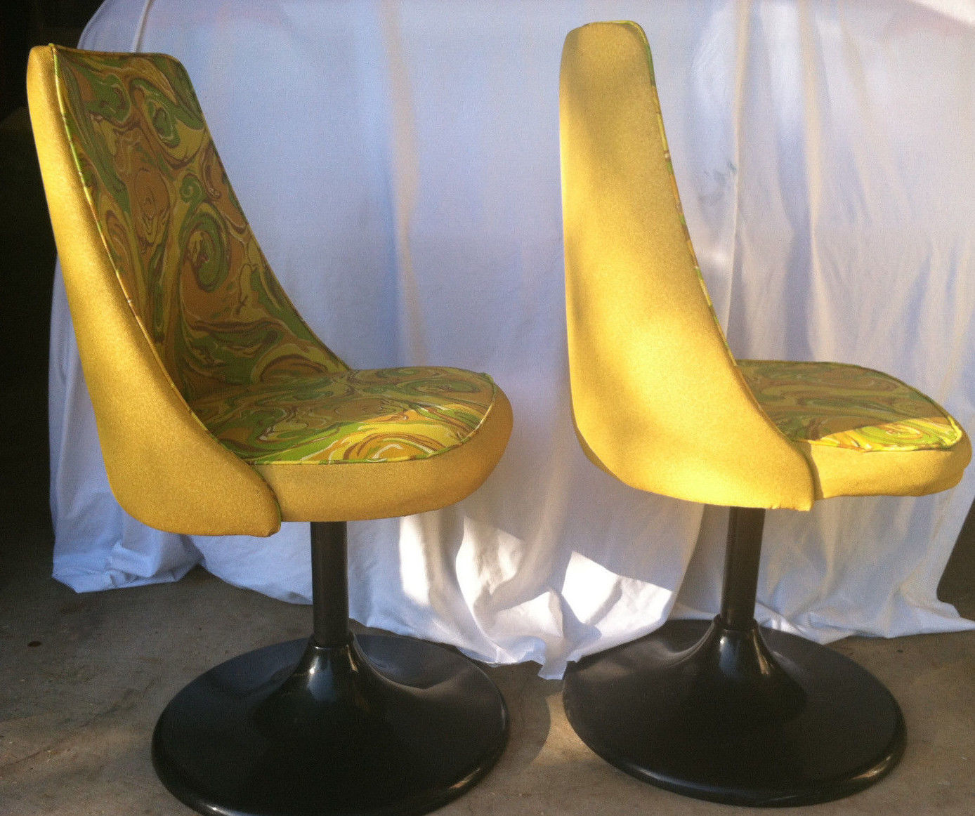 round chair on stand flexsteel swivel vintage 60s kitchen dining yellow and 50 similar items
