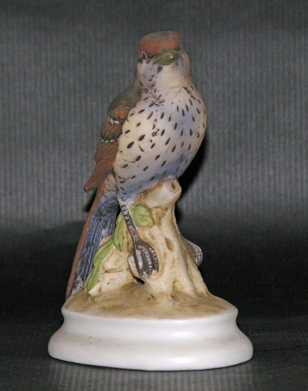 Lefton China Brown Thrasher Bisque Bird Figurine Vintage