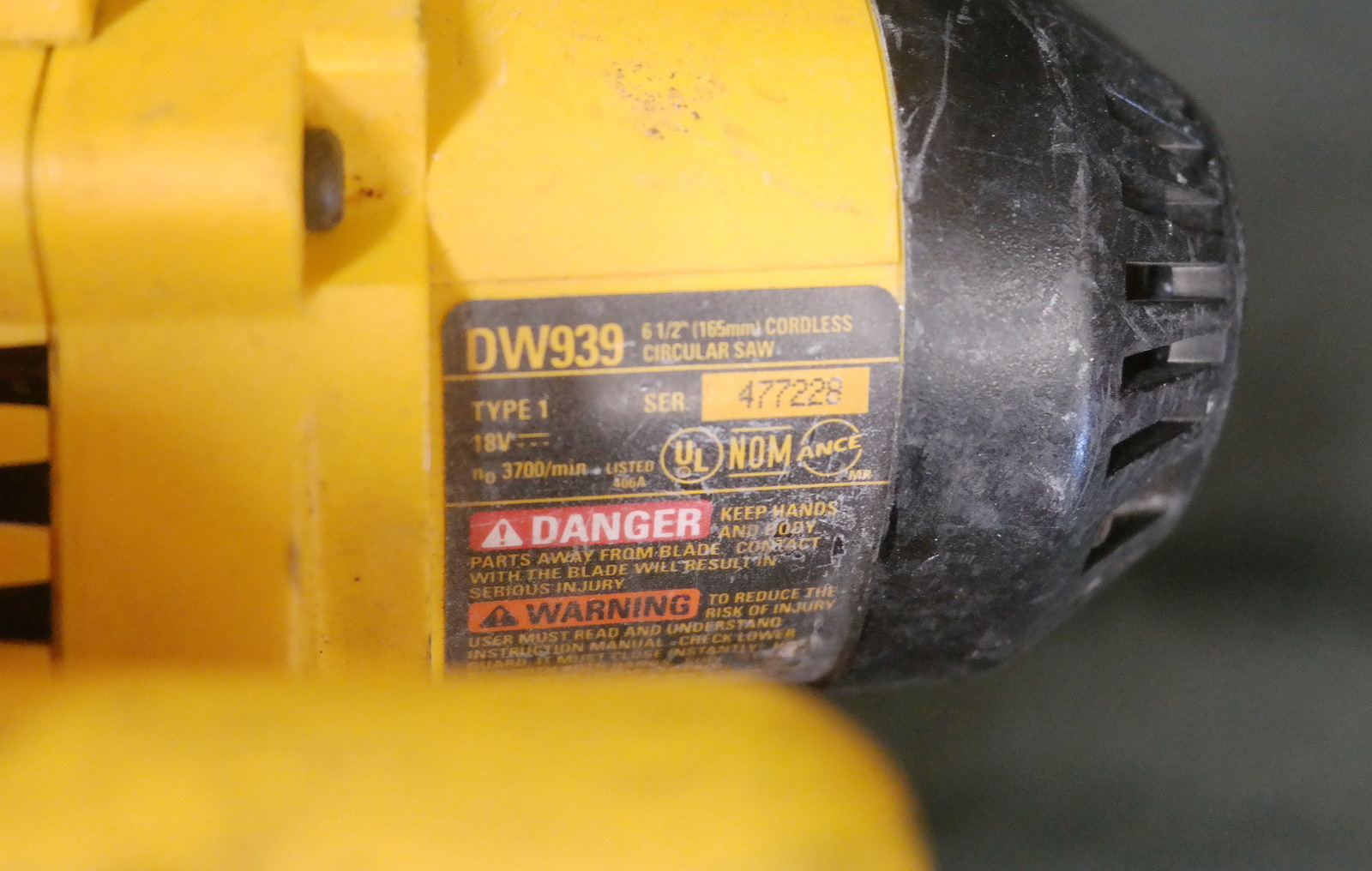 Dewalt Dw939 Parts