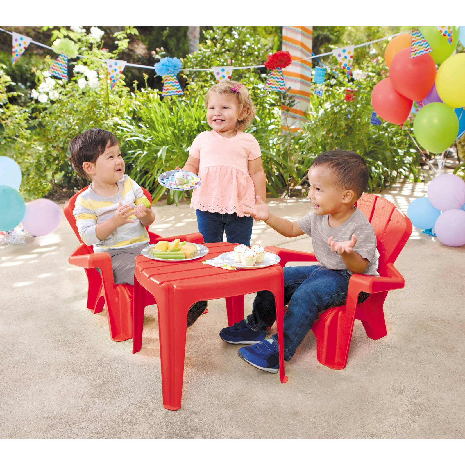 Kids Outdoor Table And Chairs Kids Play Set Adirondack Chair Table Baby Child Patio Yard