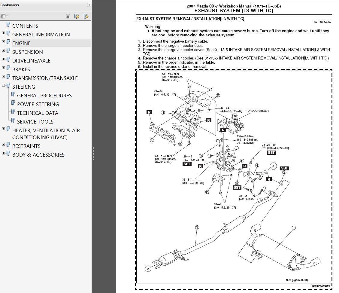 2007-2009 Mazda CX-7 2.3L Turbo Factory Repair Service