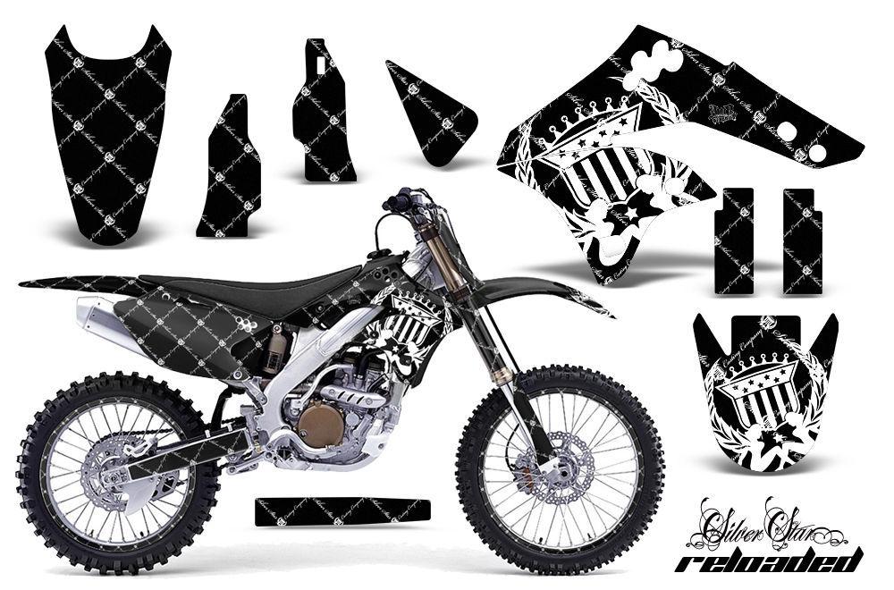Graphics Kit MX Decal Wrap + # Plates For Kawasaki KX250F