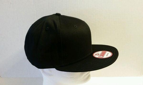 1x - Era 9fifty Flat Snapback Hat Cap Blank Black