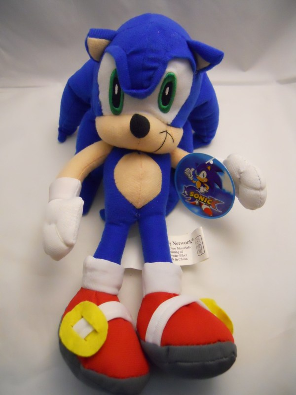 "Sega Sonic X Hedgehog Plush Doll 12"" Large Media"