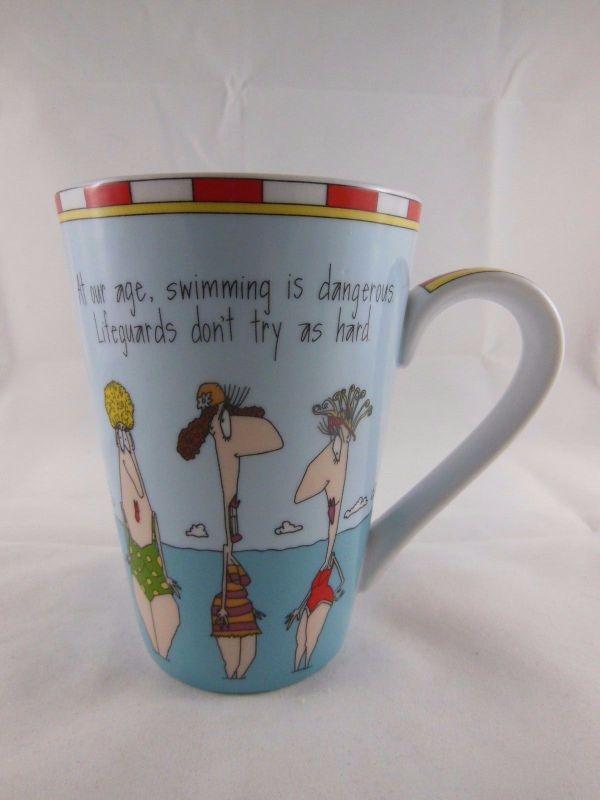 Funny Coffee Mug Cup Ladies Swimming Dangerous