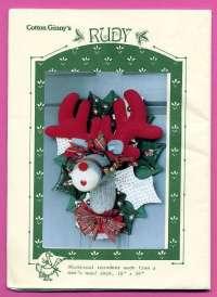 RUDY REINDEER Door Decoration Sewing Pattern - Holiday ...