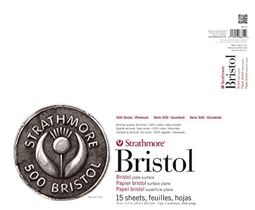 Strathmore 580-92 500 Series Bristol, 2-Ply Plate Surface