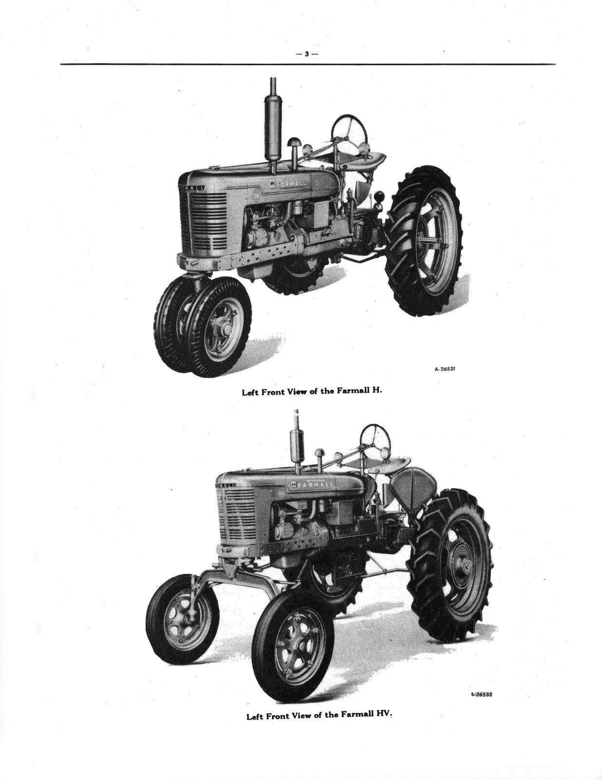 hight resolution of farmall h hv tractor tractors parts catalog manual tc 27e bookmarked cd