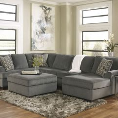 Oversized Living Room Chair Adirondack Resin Sole Modern Gray Fabric Sofa Couch Sectional Set