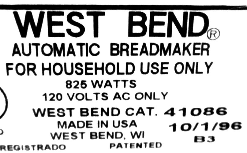 Knead Bars Fits West Bend Model 41086 Homestyle Plus