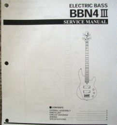 yamaha bbn4 iii bass guitar service manual and parts list booklet [ 792 x 1024 Pixel ]