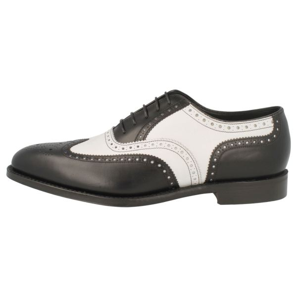 Handmade Men Two Tone Dress Shoes Black And White