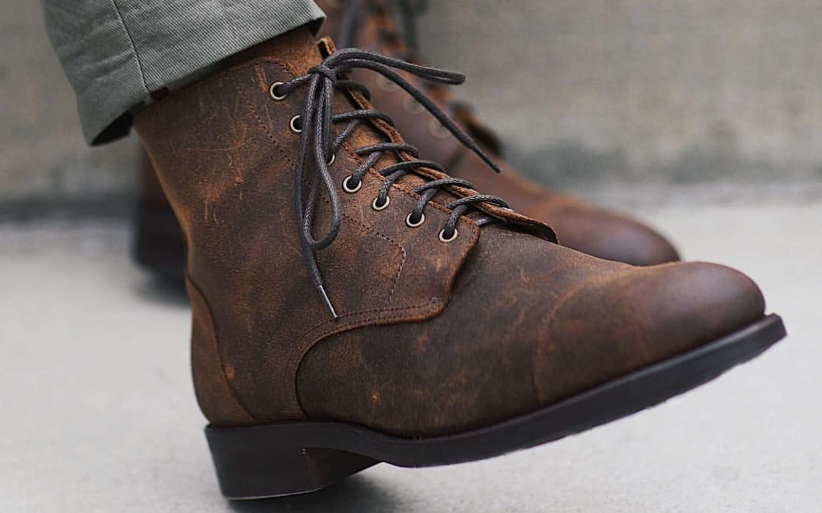 41aa063a65d Military Lace Up Boots - Ivoiregion