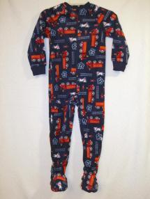 Joe Boxer Blanket Sleeper Boys 6 Firetruck Pajamas Pjs