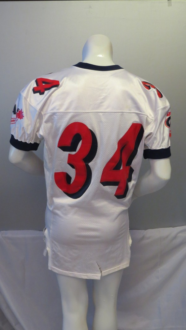 Simon Fraser Clan Football Jersey -  34 Game Worn. Simon Fraser Clan Football  Jersey -  34 Game Worn. Throwback  34 Bo Jackson Embroidered Retro Star ... eab34ee81