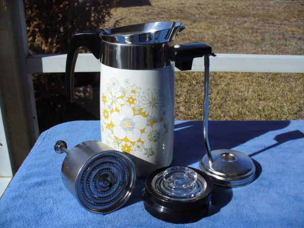 Porcelain Corning Ware 10 Cup Electric Coffee Pot