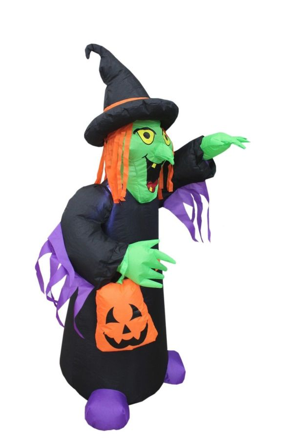 4 Foot Tall Halloween Inflatable Witch With And Similar Items
