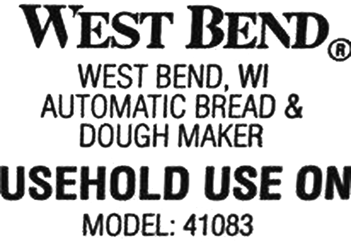 Kneading Paddle Fits West Bend Model 41083 Breadmaker