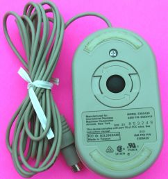 vintage genuine ibm ps 2 mouse 2 button rare 33g5430 33g5410 33g5420 12067 [ 1458 x 1600 Pixel ]