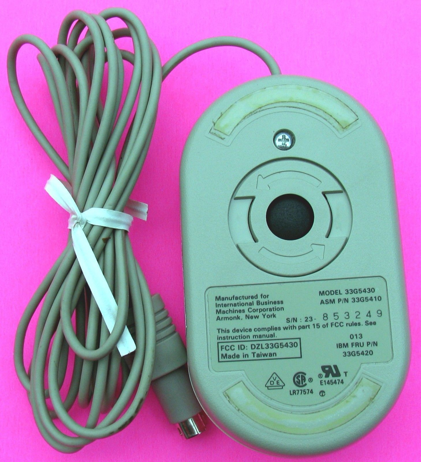 hight resolution of vintage genuine ibm ps 2 mouse 2 button rare 33g5430 33g5410 33g5420 12067