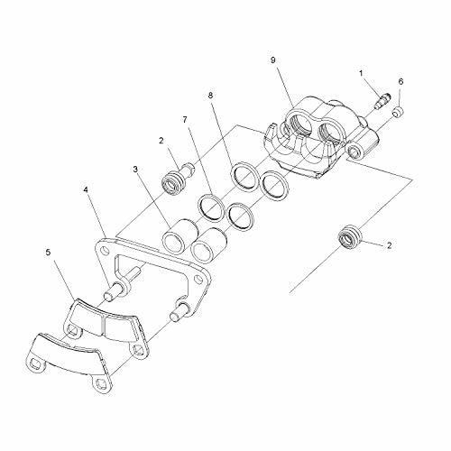 Polaris New OEM ATV Dual Bore Brake Pad Kit Outlaw,S,IRS