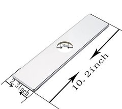 BWE Chrome Square 10 Inch Kitchen Sink Faucet Hole Cover