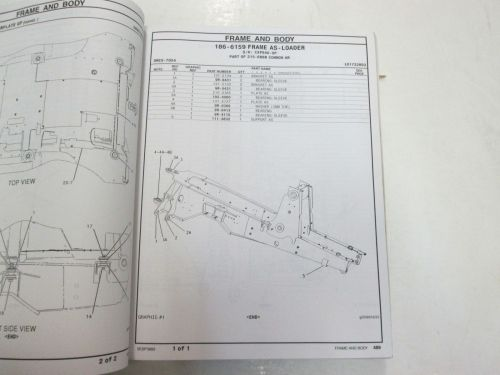 small resolution of caterpillar 416b backhoe loader parts manual vol ii faded water damage stained