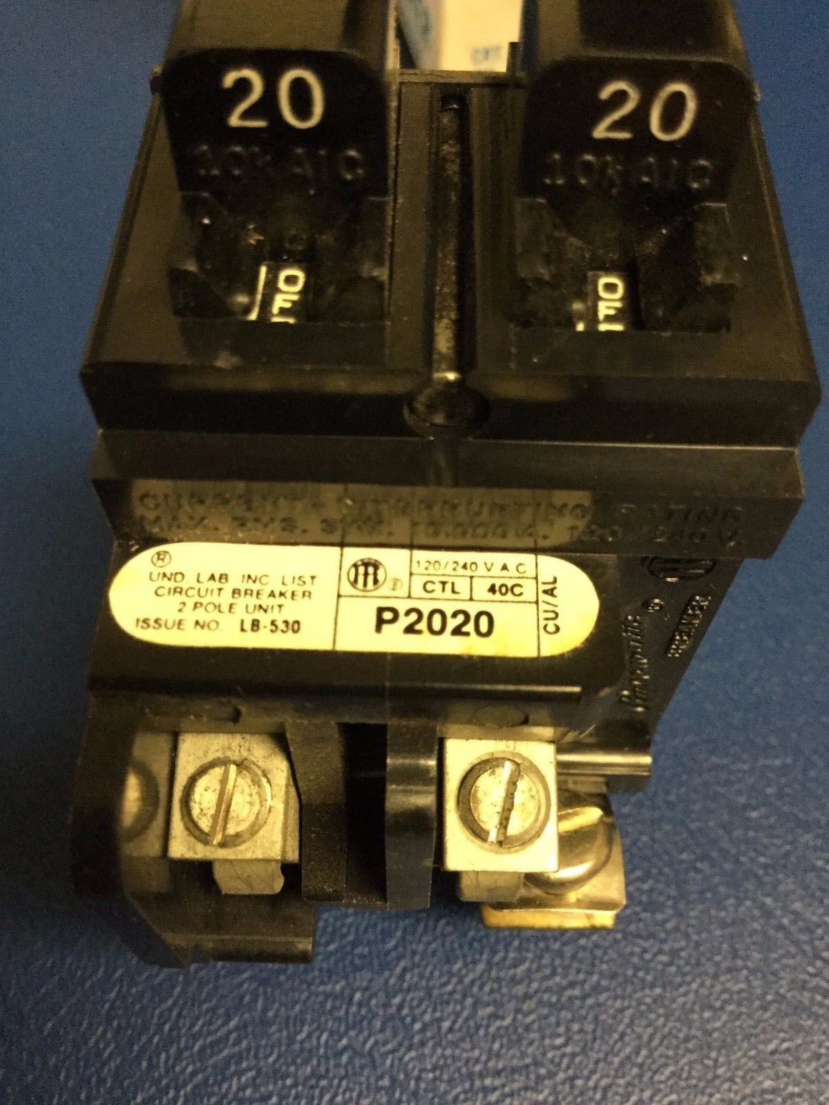 hight resolution of circuit breakers fuse boxes 20a pushmatic ite siemens 20 amp duplex or twin single pole
