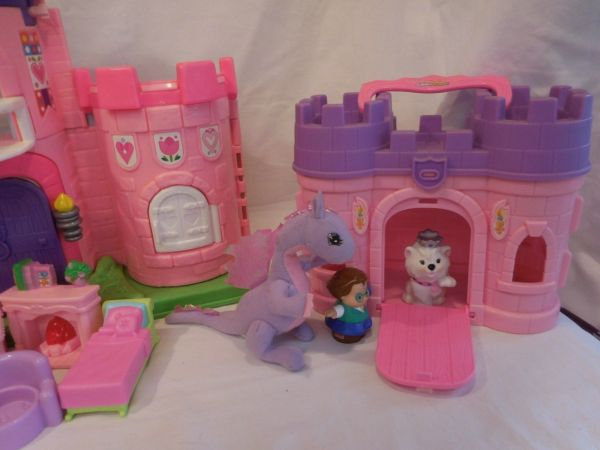 Fisher Little People Pink Castle And 50 Similar Items