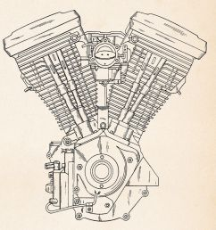 harley motorcycle art evolution engine patent drawing posters  [ 1556 x 1600 Pixel ]