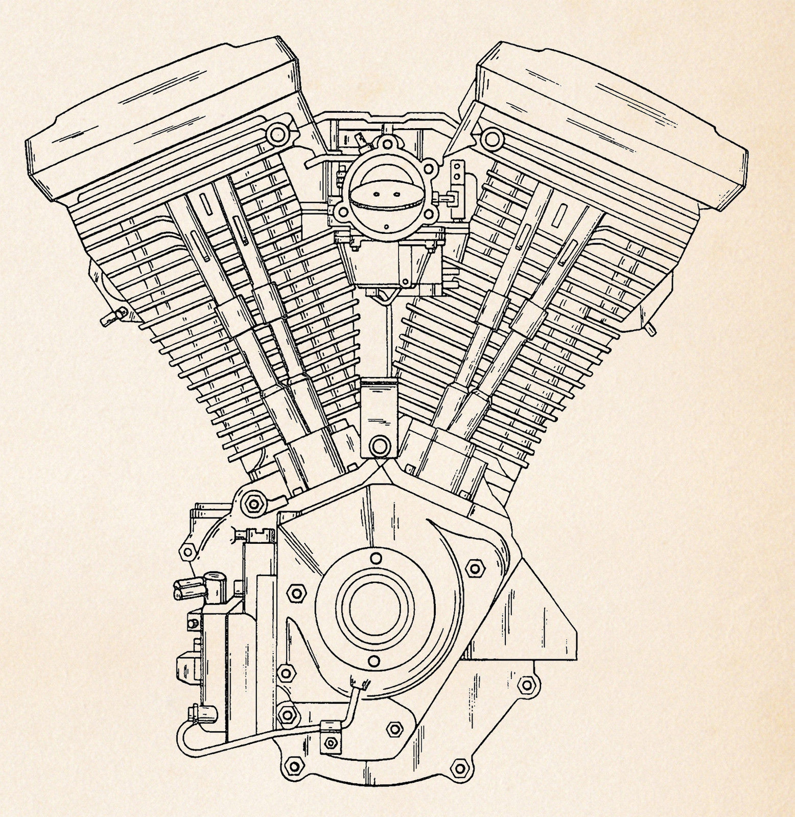 hight resolution of harley motorcycle art evolution engine patent drawing posters