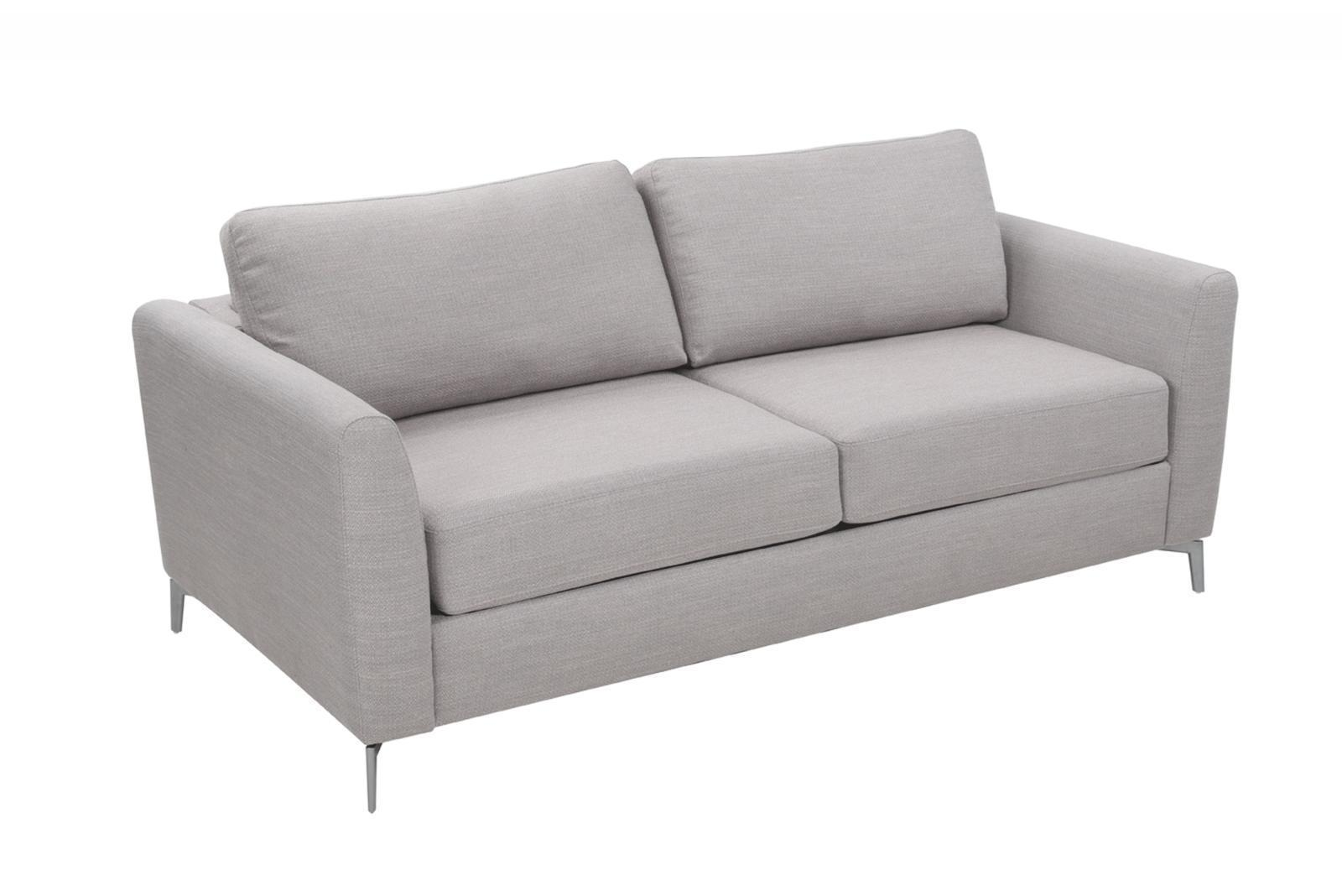 ashfield modern light grey fabric sectional sofa can you paint a bonded leather esf alex bed contemporary