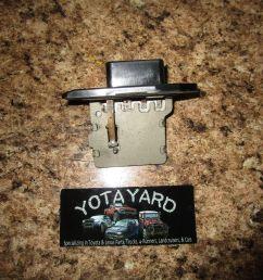 2000 toyota camry heater blower fan resistor oem yota yard  [ 1599 x 1200 Pixel ]