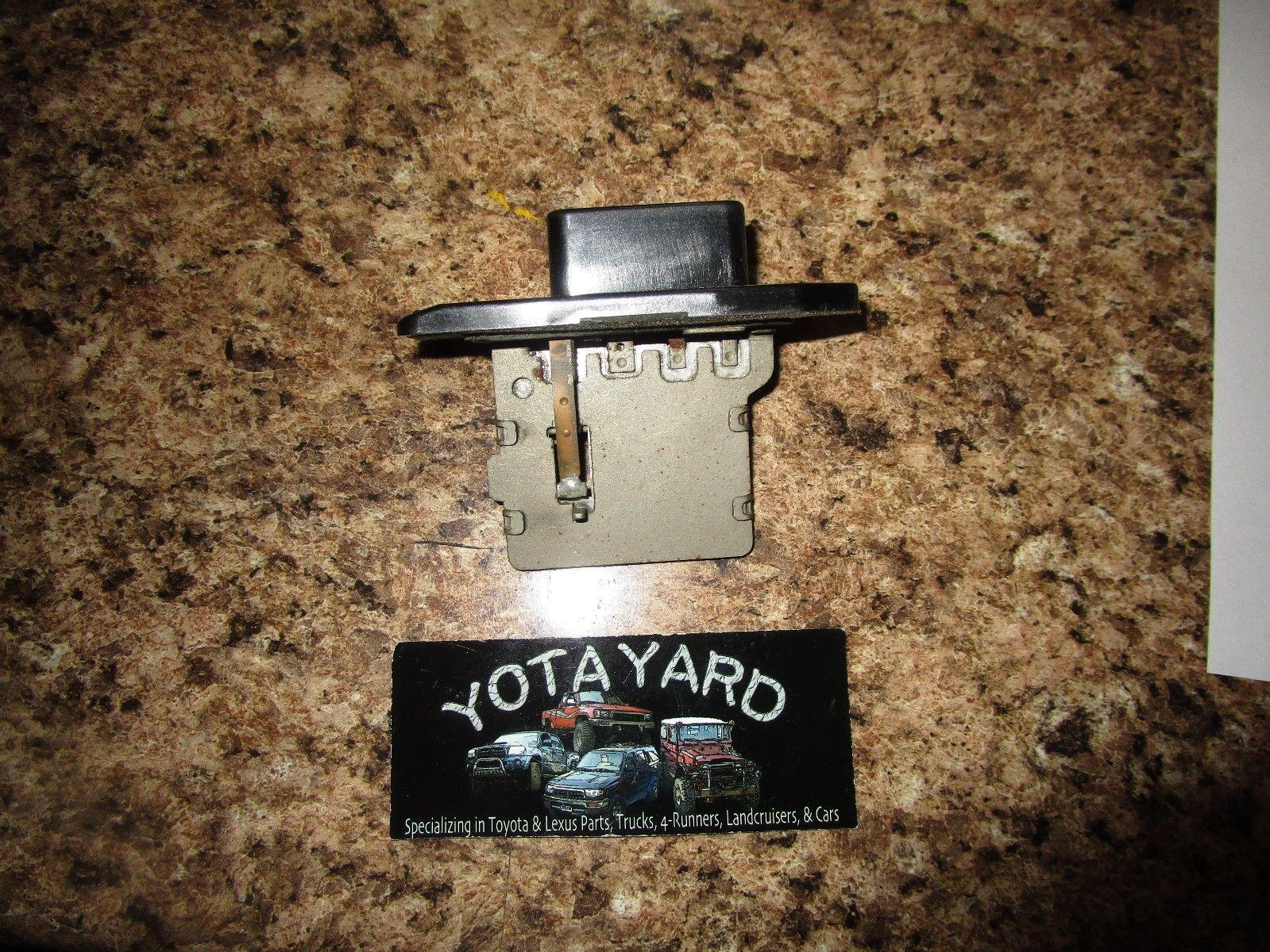 hight resolution of 2000 toyota camry heater blower fan resistor oem yota yard