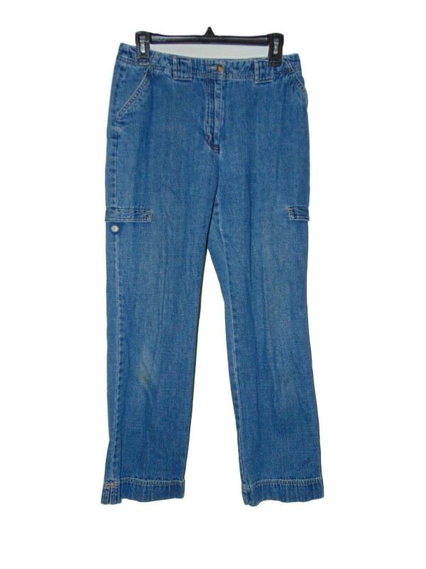Crazy Horse Jeans Size 8 Faux Cargo Pockets Preowned