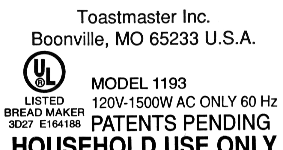 Kneading Paddle Fits Toastmaster Model 1193 Breadmaker's