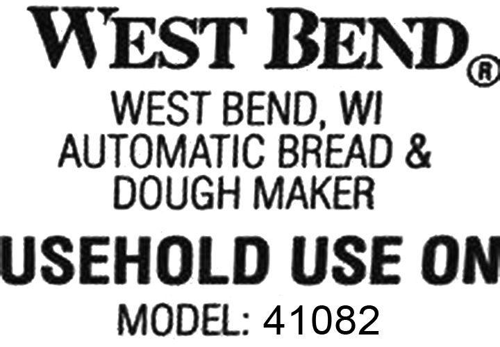 Kneading Paddle Fits West Bend Model 41082 Breadmaker