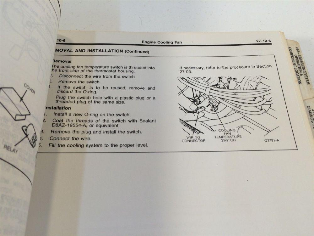 medium resolution of 1988 ford festiva loose leaf shop manual fps 12133 87 oem original