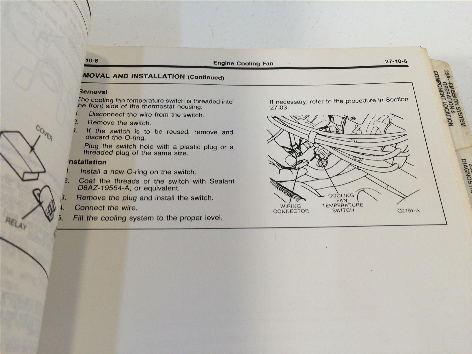 hight resolution of 1988 ford festiva loose leaf shop manual fps 12133 87 oem original