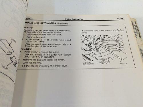 small resolution of 1988 ford festiva loose leaf shop manual fps 12133 87 oem original