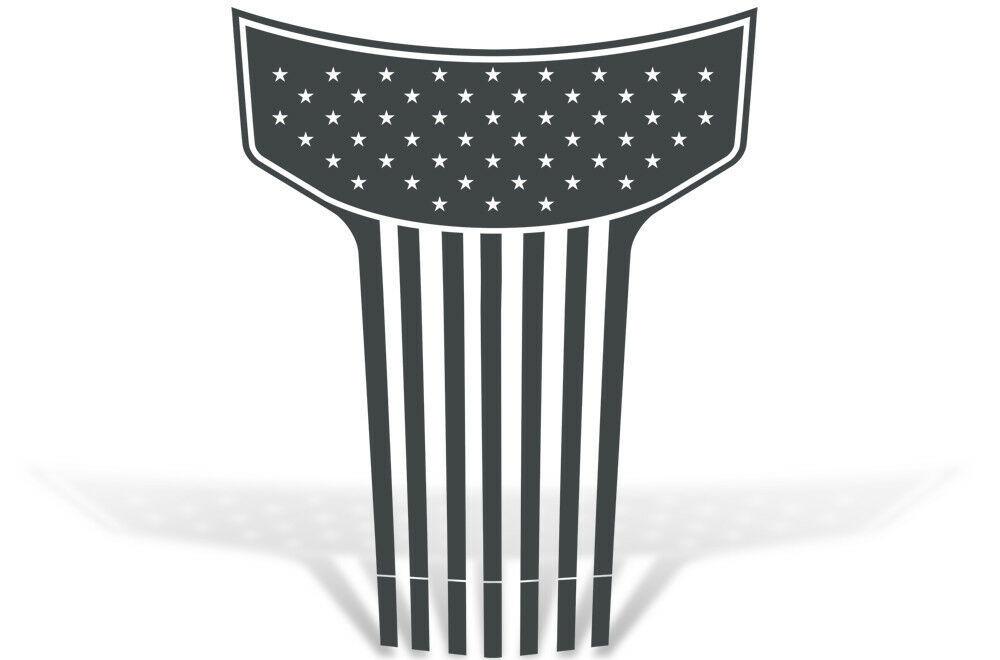 Vinyl Graphics Decal American Flag Hood Kit for Dodge