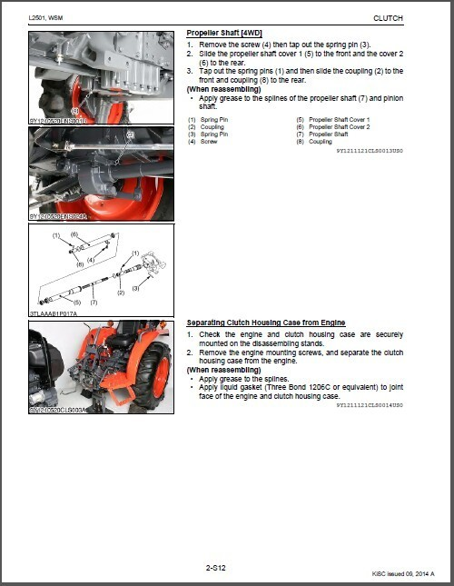 Kubota L2501 Tractor WSM Service Workshop and similar items