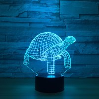 7 Colors Changing Sea Turtles Shape Light Fixture 3D ...