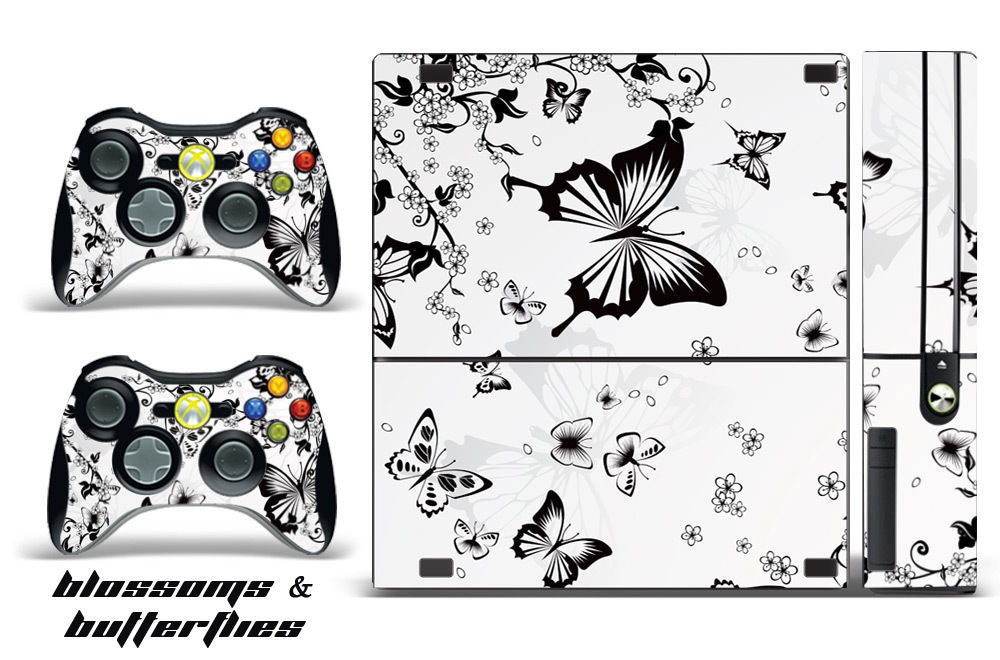 Skin Decal Wrap for Xbox 360 E Gaming Console & Controller