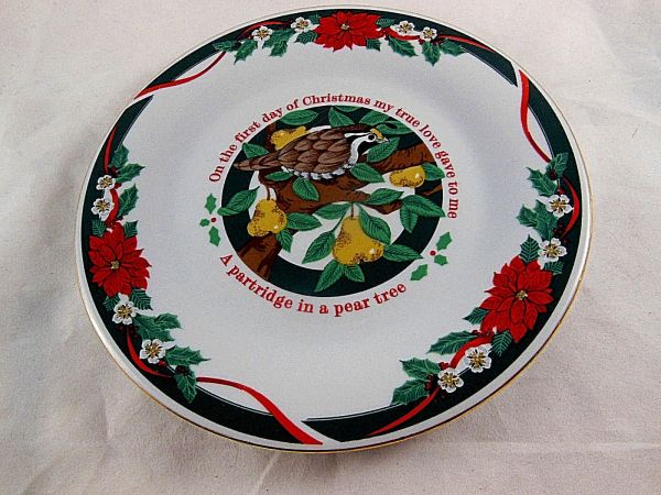Tienshan Deck Halls Fine China 1st Day Of Christmas 7