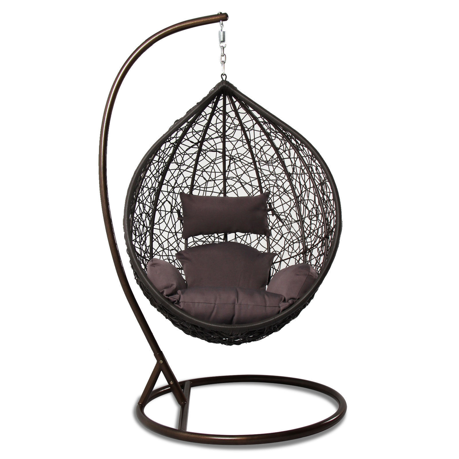 Outdoor Wicker Hanging Egg Chair Tear Drop Outdoor Hanging Hammock Wicker Swing Chair Egg